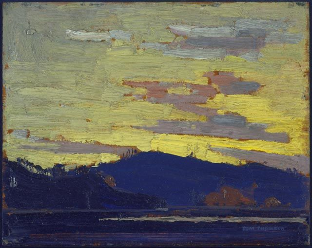 """Yellow Sunset"" even in Canada...it is more gold than yellow & squinting will register the foreground as black"