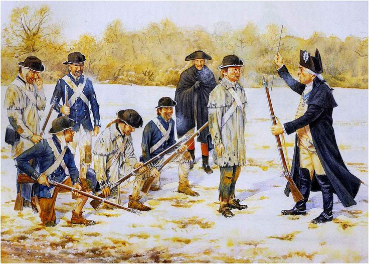 Von Steuben instructing the Continental Army at Valley Forge