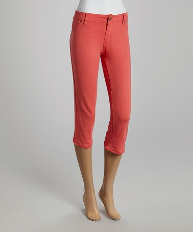 This Coral Capri Pants is perfect! #zulilyfinds
