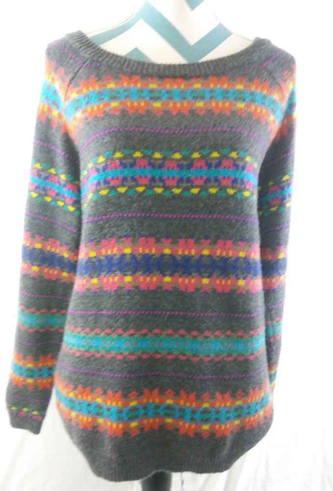 Old Navy Women s Size XL Pullover Sweater Knit Top Heather Charcoal