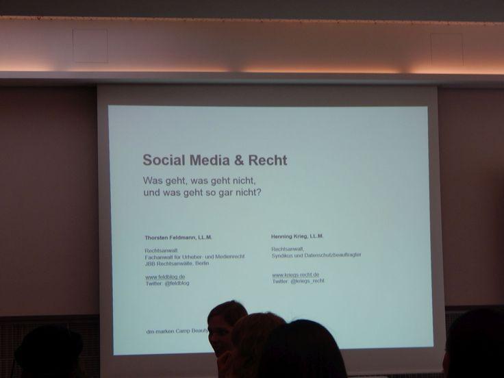 Session über Social Media und Recht, sehr lustig und informativ gewesen! #dmcb14