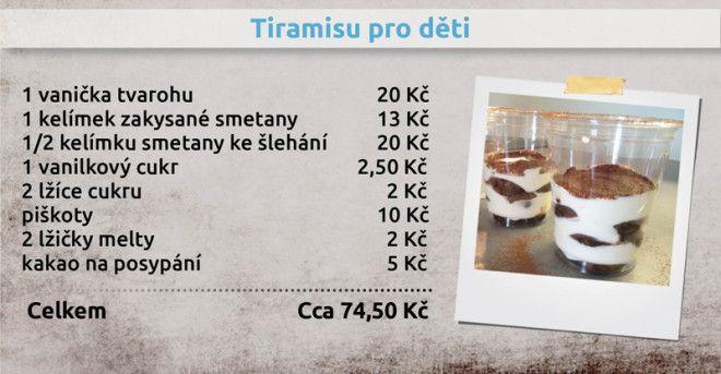 Recepty Ládi Hrušky - Tiramisu pro děti