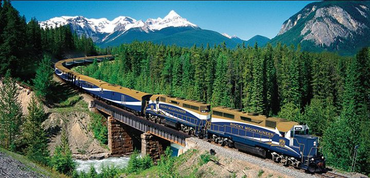 kanada rocky dağları treni