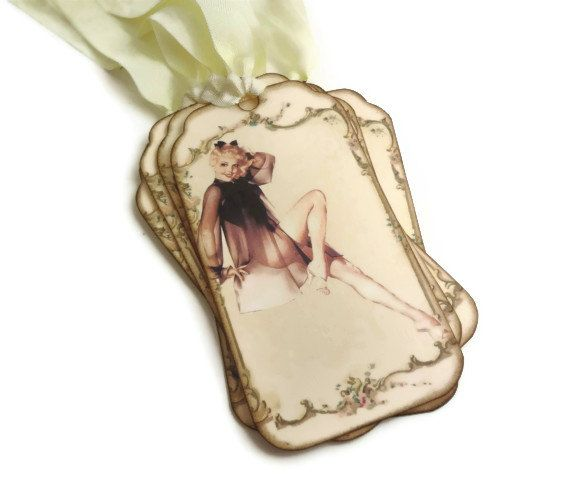 Lingerie Shower Tags Bachelorette Party Tags by Istriadesign, $7.50
