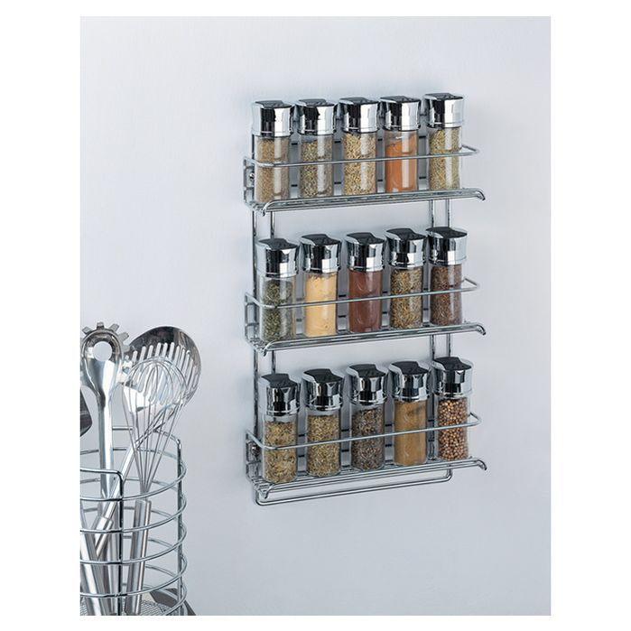 Stainless Steel Wall Mount Spice Rack Kitchen Kitchen