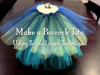 How to Make a Tutu - Video Tutorial My daughter wants to be a peacock for Halloween.