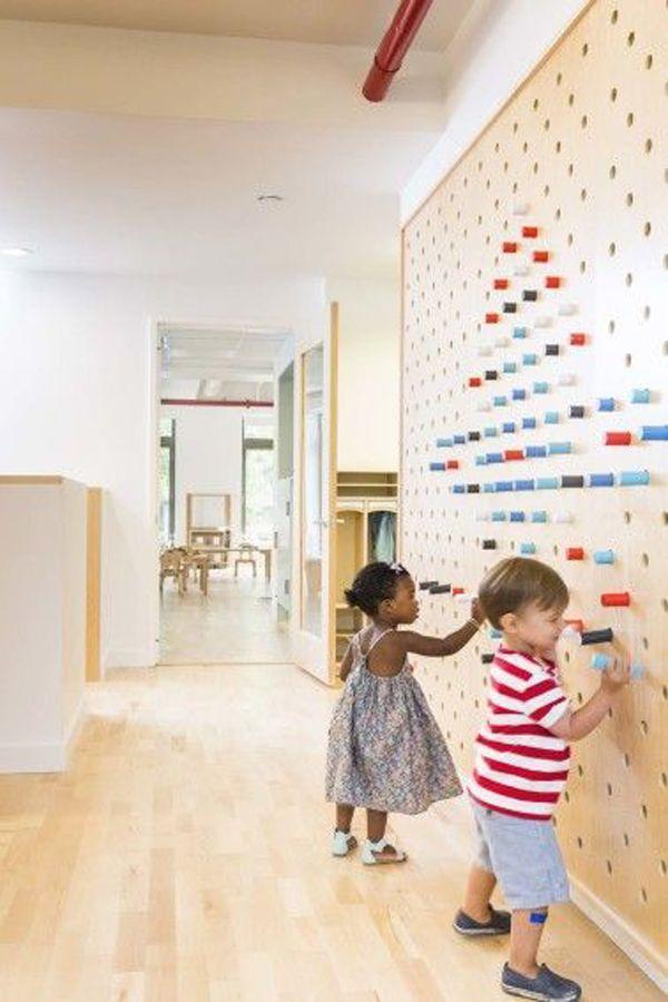 20 Interactive Wall Ideas For Kid Spaces Interactive Walls Preschool Designs Kindergarten Interior