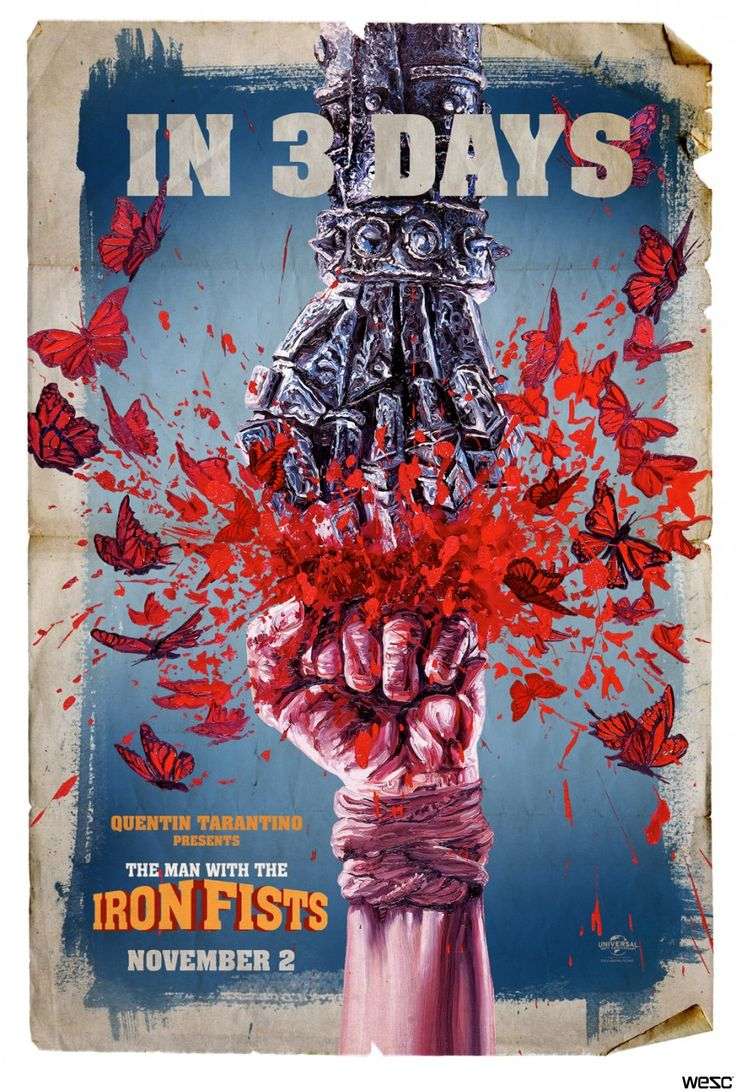 Poster design w graff - The Man With The Iron Fists 16 Striking Posters