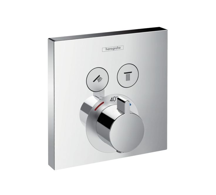 ShowerSelect, Set esterno termostatico ad incasso per 2 utenze