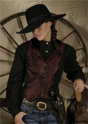 Old west attire for the female cow girl or gun fighter