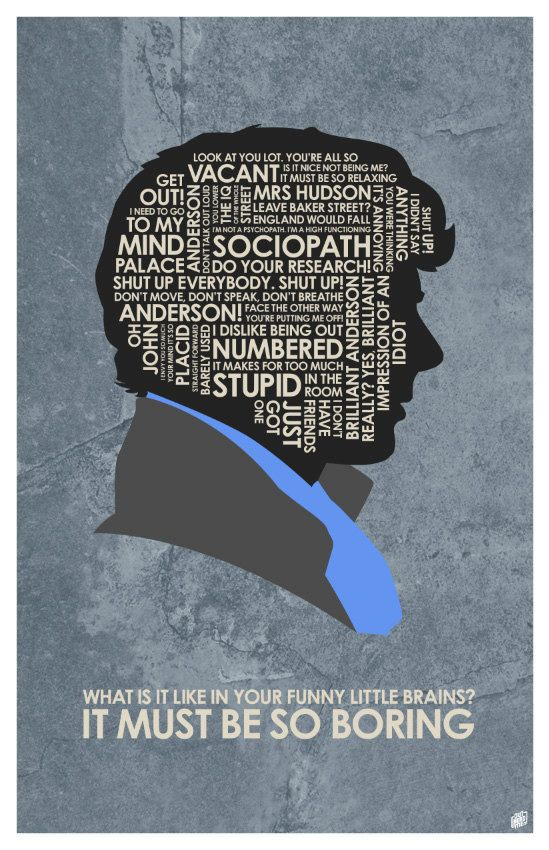 Citation de Sherlock affiche par OutNerdMe sur Etsy