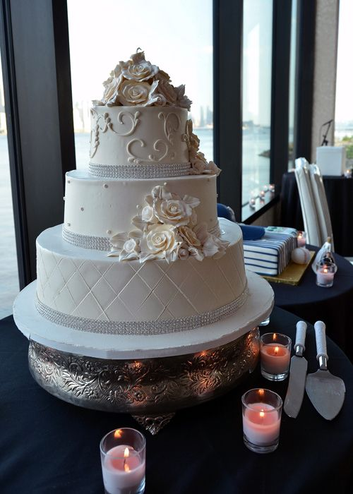 Wedding Cake Ercream Elegance This Beautiful 3 Tier Is Studded