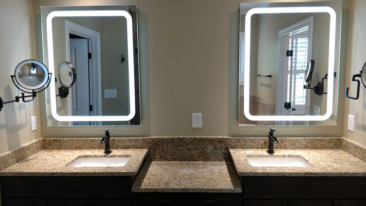 His and Her's bathroom. Mike Palmer Homes inc