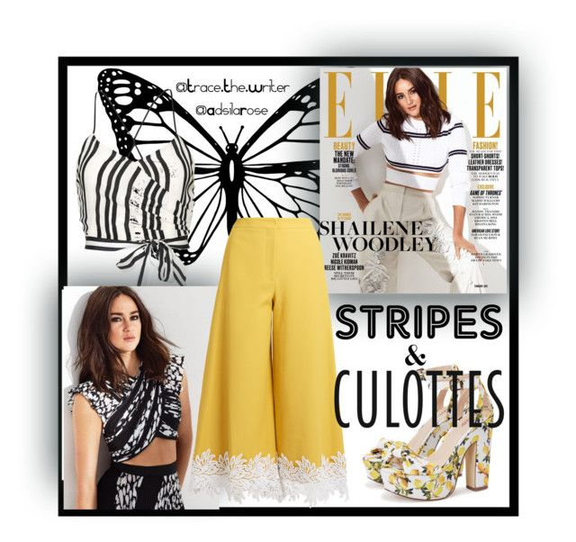 Contest Announcement: #StripesAndCulottes by adsilarose on Polyvore featuring polyvore fashion style Alice + Olivia Sara Battaglia clothing stripes culottes StylesInTheMaking AdsilaRose StripesAndCulottes