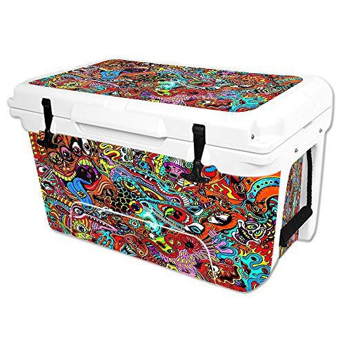 MightySkins Protective Vinyl Skin Decal Wrap for RTIC 45 qt Cooler cover sticker Acid Trippy * For more information, visit image link.(This is an Amazon affiliate link and I receive a commission for the sales)