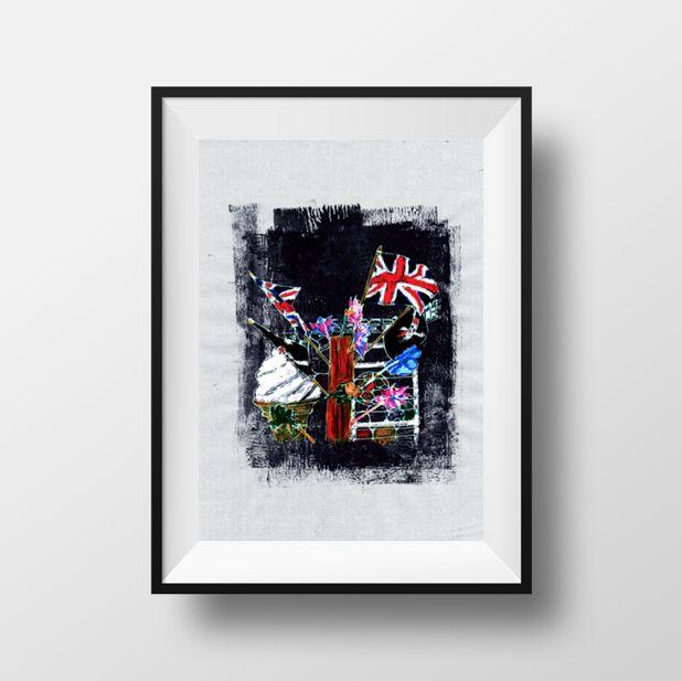 #Brighton #illustration #ink #paint #seaside #british #icecream #flag