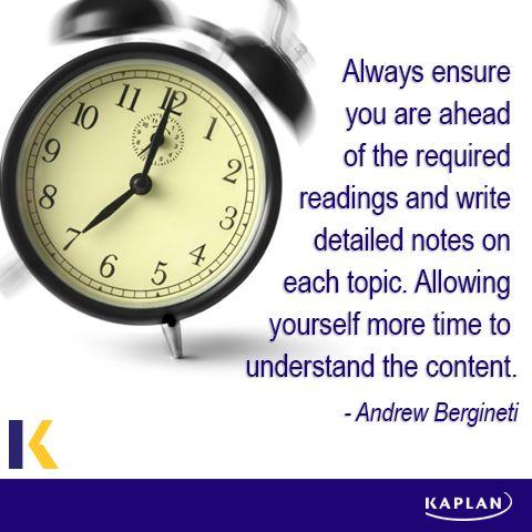 Study tip - stay ahead.
