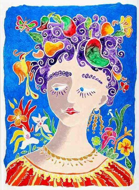 Rostro Tropical by Salvadorean Artist Fernando Llort