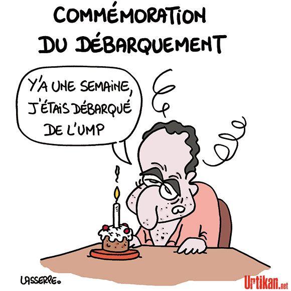 Jean-François Copé et le débarquement - Dessin du jour - Urtikan.net
