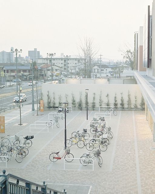 Generous bicycle parking, Japan(?). Please comment if you know where this is, and visit the Slow Ottawa 'Nice Racks' board for more inspirational lockups.