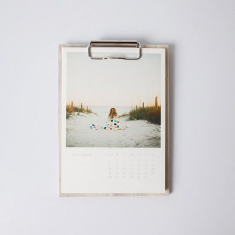 Artifact Uprising: Many offerings like this beautfiful calendar. The individual prints are secured by a slim, minimalist clipboard. Start your calendar whenever you want to.   10 ways to use your Instagrams IRL
