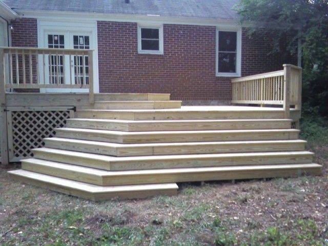 Decks octagon deck with steps graph paper 2 steps you for How to build an octagon deck