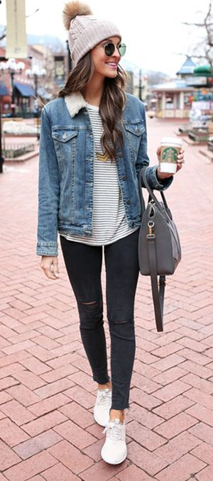 8565d670d95 20+ cute denim jacket outfit ideas 2018 for ladies -  denim  jeans  jackets   fashionoutfits  outfitpost  outfitinspiration  look  lookbook   lookoftheday ...