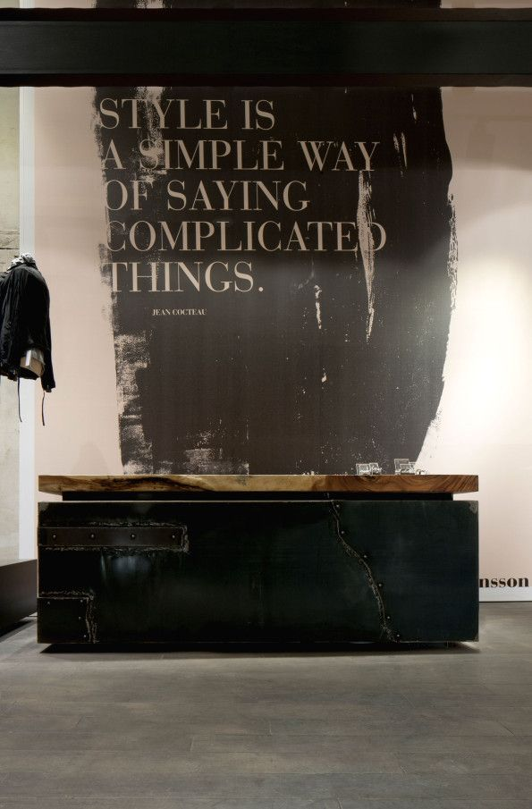 Fantastic wall tupography wall | typography | Wolfensson concept store (Vienna)