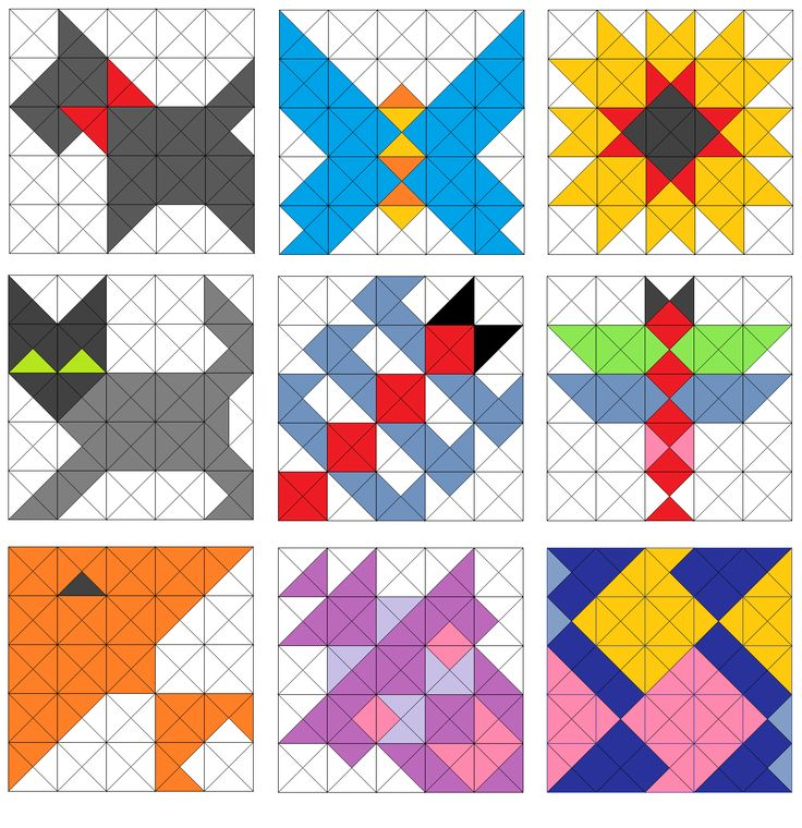 Quilt Patterns Using Squares And Triangles : 1000+ images about Half Square Triangle quilts on Pinterest Triangle quilts, Quilt and Sampler ...