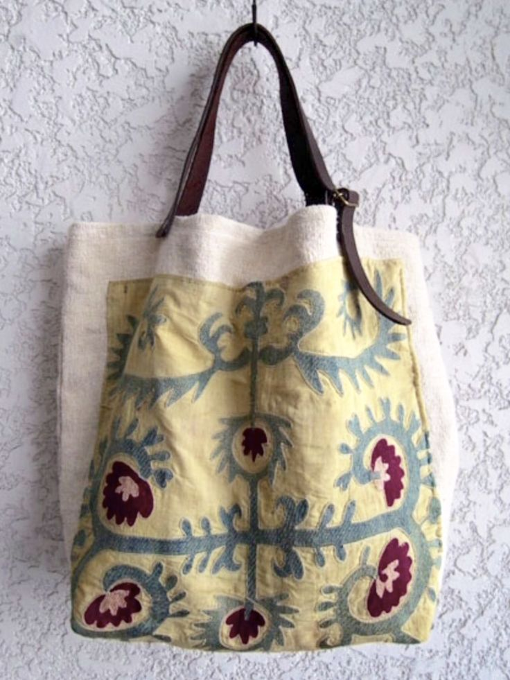 add a fabric panel to an old or ugly bag
