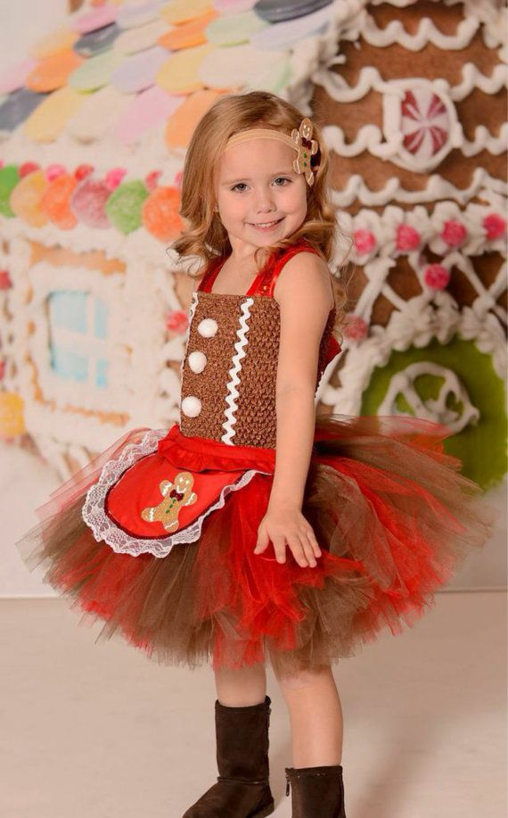 Gingerbread man tutu Dress gingerbread man by Tutuadorablebowtique