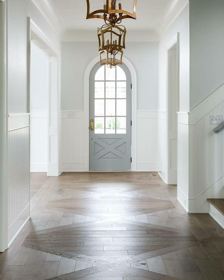 Beautiful entryway wood floor
