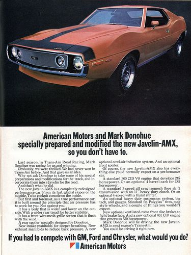 1971 AMC American Motors Javelin AMX Advertising Hot Rod Magazine March 1971