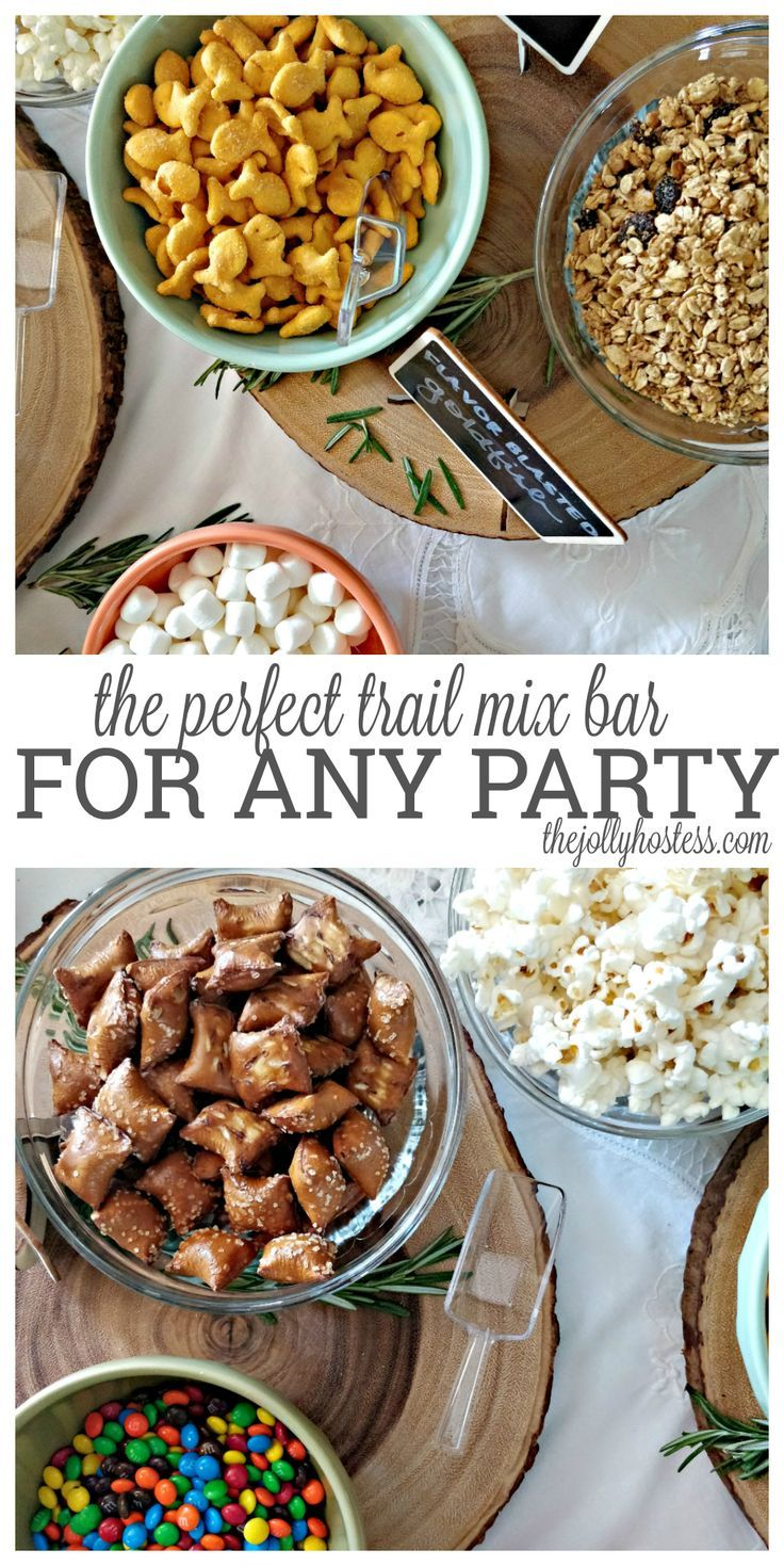 trail mix | bar | party ideas | baby shower | wedding | DIY | make your own | recipes | easy | fall | woodland