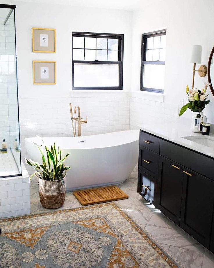 "9,593 Likes, 75 Comments - MyDomaine (@mydomaine) on Instagram: ""All the elements of a perfect bathroom—found. ☝️ 