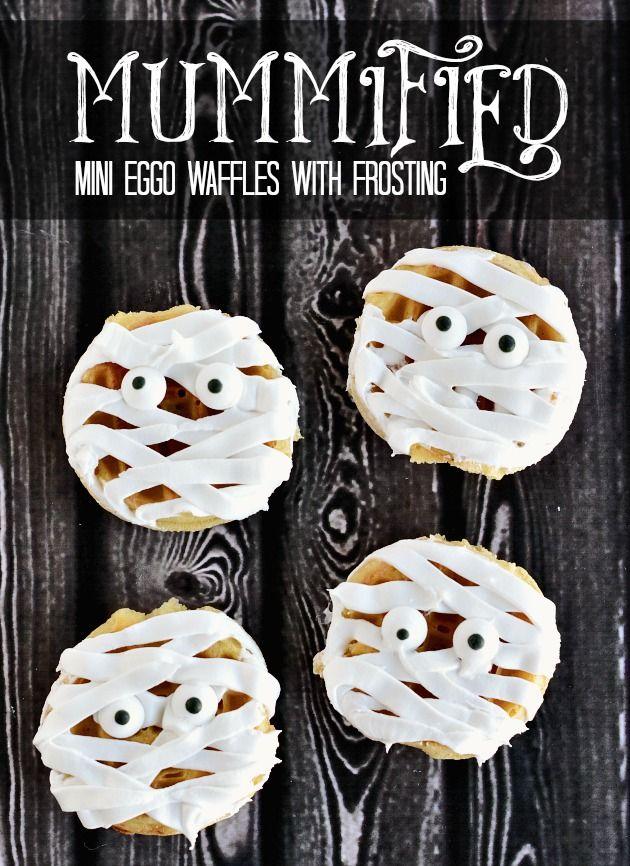 Mummy Mini Eggo Waffles #EggoWaffleOff
