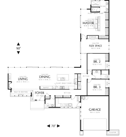25 best ideas about mid century ranch on pinterest for L shaped open floor plan