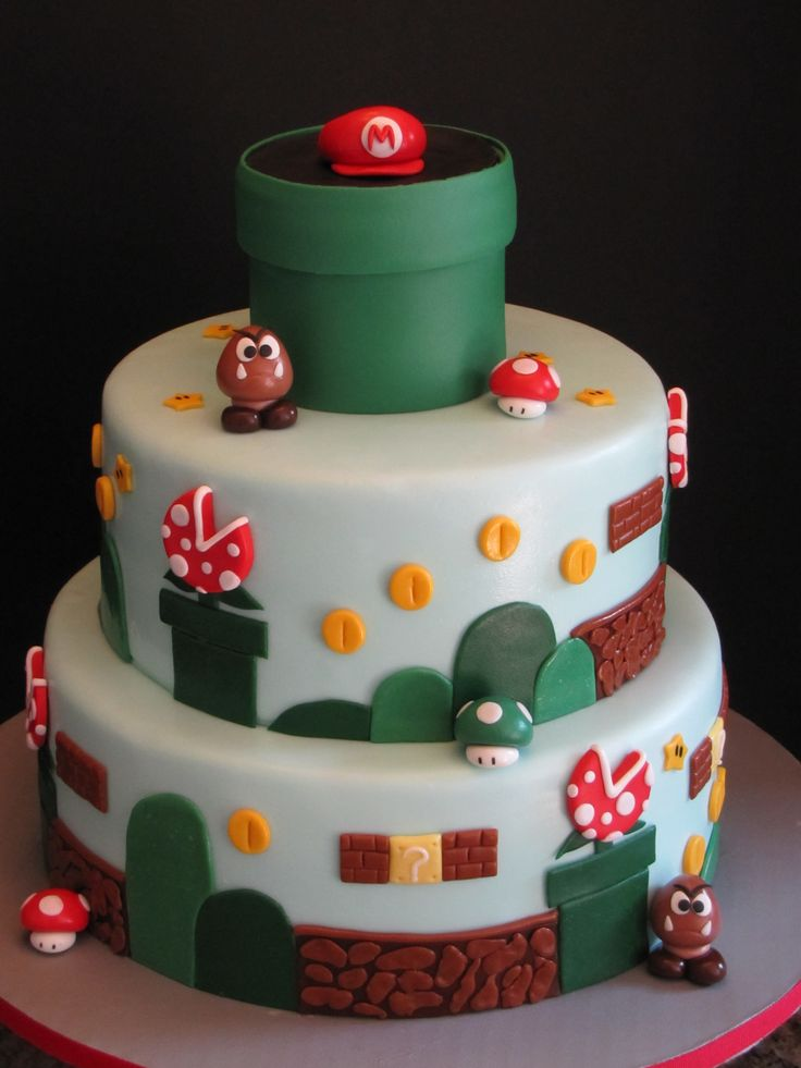 Mario brothers birthday cake party mario luigi