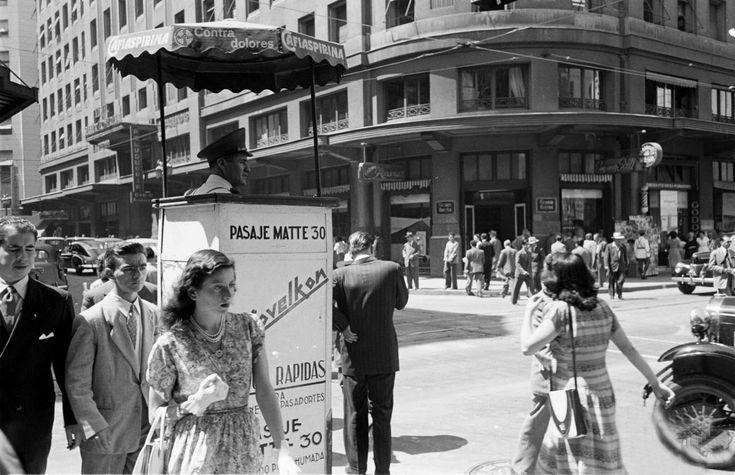 Calle Ahumada con Agustinas 1950