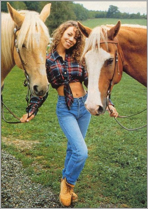 """Born: March 27th 1970 ~ Mariah Carey is an American singer, songwriter, record producer, and actress. She rose to prominence after the release of the first single taken from her eponymous debut album in 1990, """"Vision of Love"""".          Partner: James Packer (2015–)    Spouse: Nick Cannon (m. 2008–2015), Tommy Mottola (m. 1993–1998) {{Mariah Carey with some horses}}"""