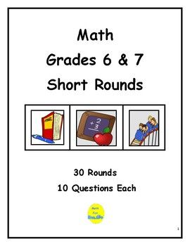 Here are 30 rounds of questions, 10 questions each round, for review and practice, enrichment, daily warm-ups, or a challenging activity for a team of students! These rounds reinforce computation, geometry, vocabulary, measurement, percent, number theory, and more!