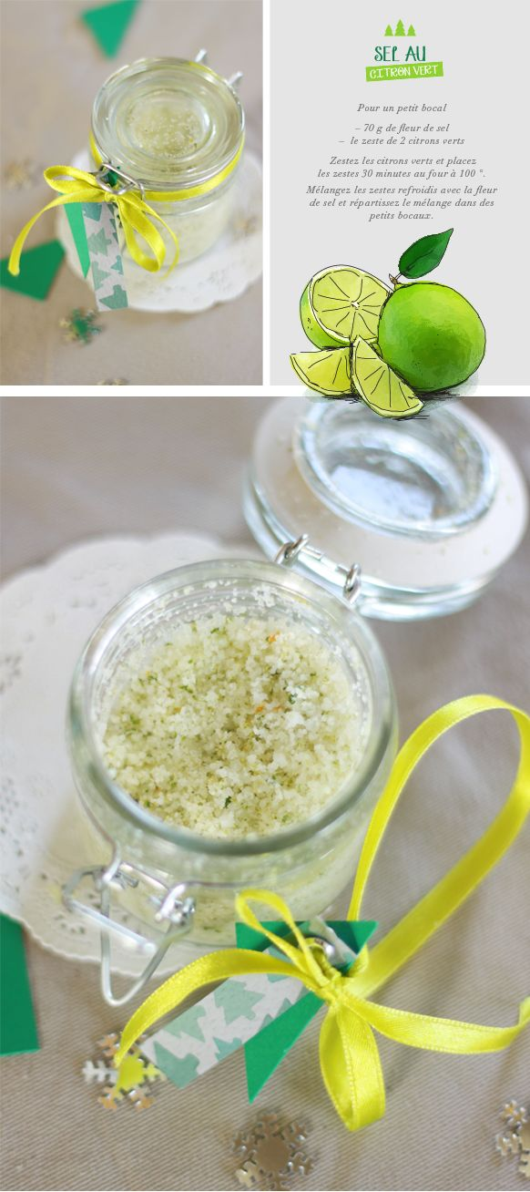 Lime Salt / Sel au citron vert (Recipe in French?? But easy to understand, only salt and lime)