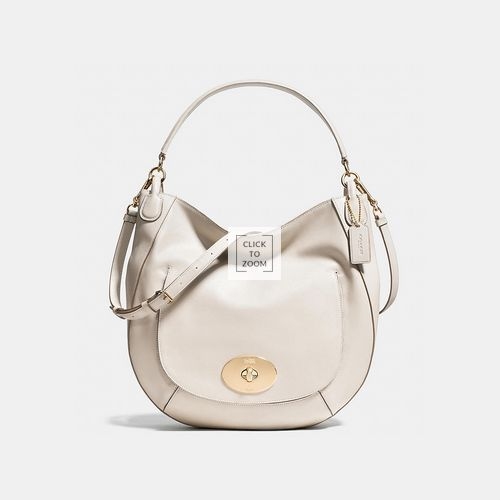 Coach Outlet Coupons & COACH CIRCLE hobo LIGHT GOLD/CHALK