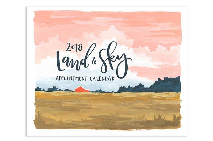 2018 Land & Sky Appointment Calendar