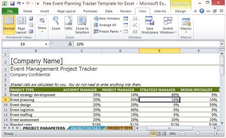 The Free Event Planning Tracker Template for Excel helps you create a smooth, well-executed event that is within budget and on schedule.