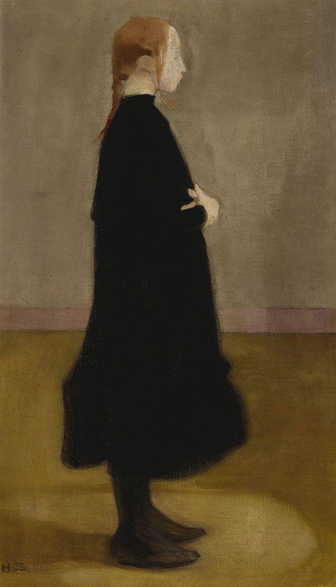 Helene Schjerfbeck (1862-1946) Kansakoulutyttö II, 1908. Ateneumin taidemuseo, kok. Hallonblad. © Kuvasto. Kuva: Kansallisgalleria / Hannu Aaltonen