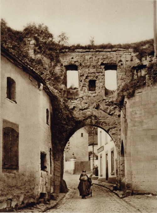 City gate, in Valkenburg, The Netherlands, 1930s