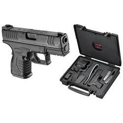 The Springfield XD(M) in .40 S&W is one of the pistols that gets the best reviews. This model has a 3.8-inch barrel and holds 16 rounds. It comes with a holster, magazines, mag loader and hard-sided case for $583.39.