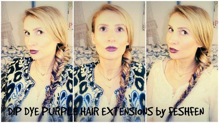 Trench Collection by Sonia Verardo: DIP DYE PURPLE HAIR EXTENSIONS   VOLUMINOUS FISHTA...