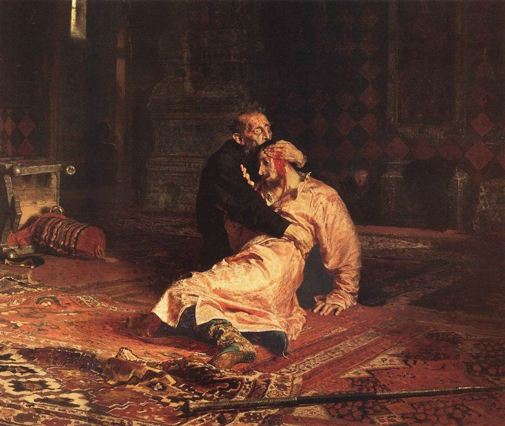 Illya Repin; Ivan the Terrible and His Son Ivan: Ilya Repin, Sons, Terrible, Art, 1885, Son Ivan, November 16, Painting